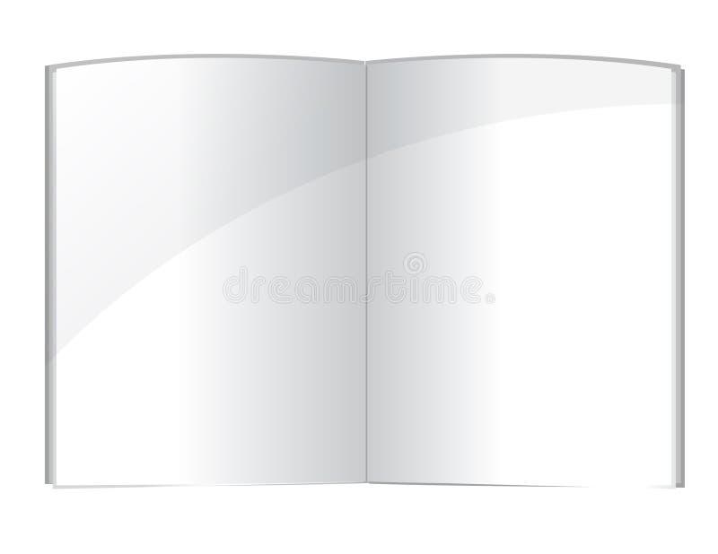 Het lege malplaatje van boekpagina's stock illustratie
