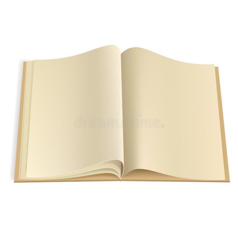 Het lege malplaatje van boekpagina's vector illustratie