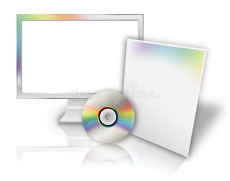 Het lege Malplaatje van de Software van de Computertechnologie royalty-vrije illustratie