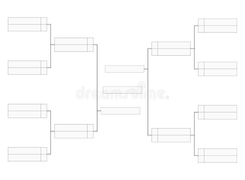Het lege malplaatje van de toernooiensteun voor infographics van de woordwedstrijd stock illustratie