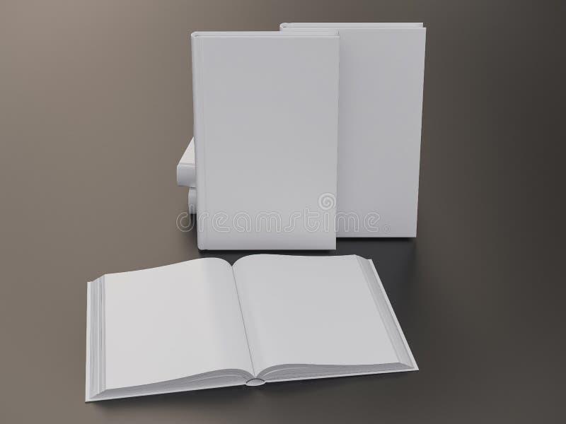 Het lege malplaatje van het boekmodel royalty-vrije stock afbeelding