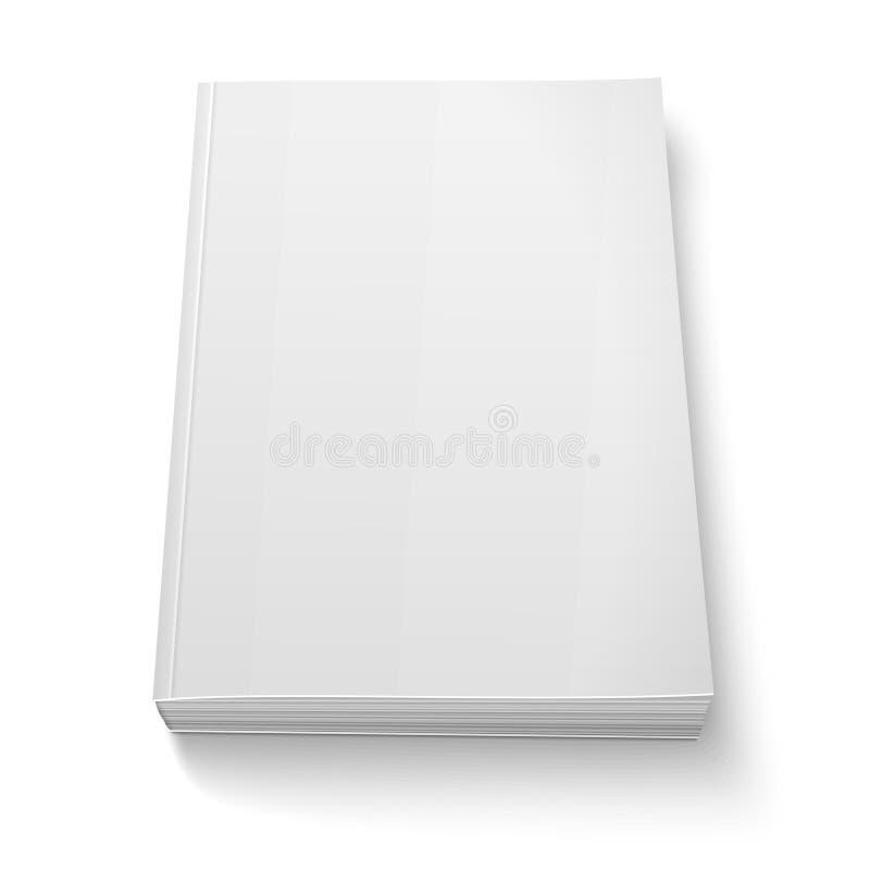 Het lege malplaatje van het softcoverboek op wit royalty-vrije illustratie