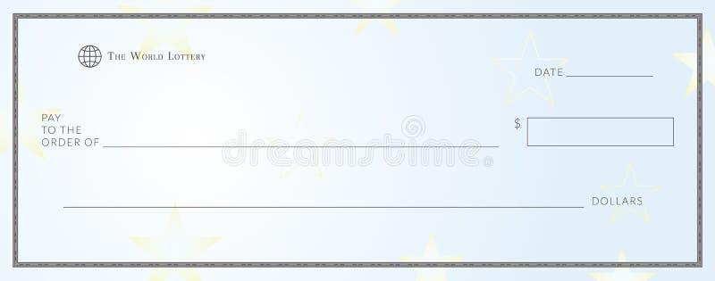 Het lege malplaatje van het loterijkaartje vector illustratie