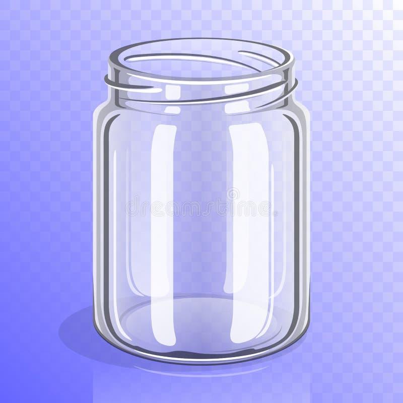 Het lege model van de glaskruik royalty-vrije illustratie