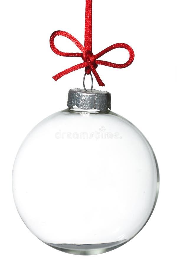 Het lege ornament van Kerstmis royalty-vrije stock afbeeldingen