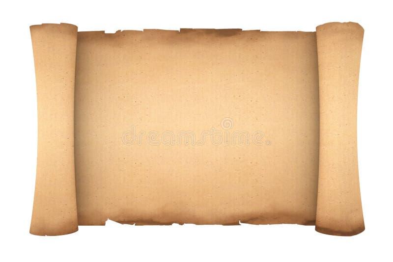 Het lege Oude Document Model van het Rolperkament het 3d teruggeven stock illustratie