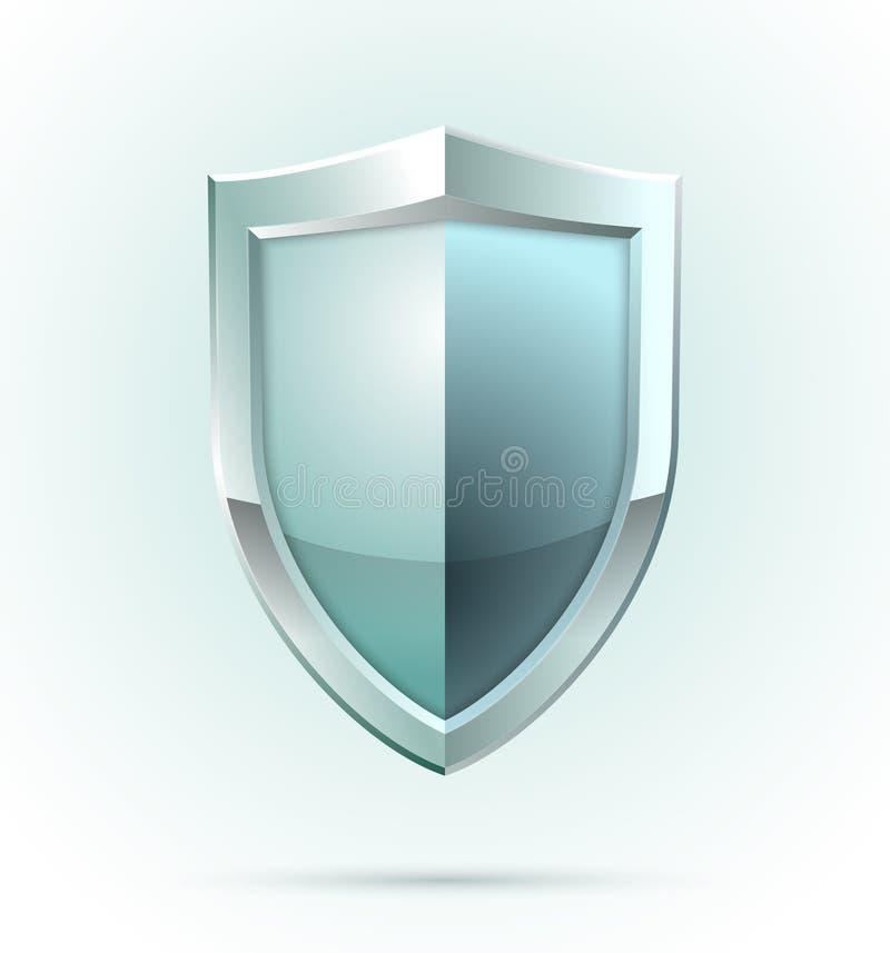Het lege pictogram van de schildveiligheid royalty-vrije illustratie