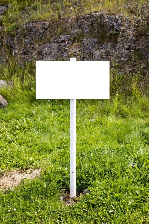 Het lege Platteland voorziet - Wit van wegwijzers royalty-vrije stock fotografie