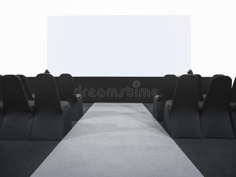 Het lege Scherm in Bedrijfsseminarievergaderzaal stock fotografie