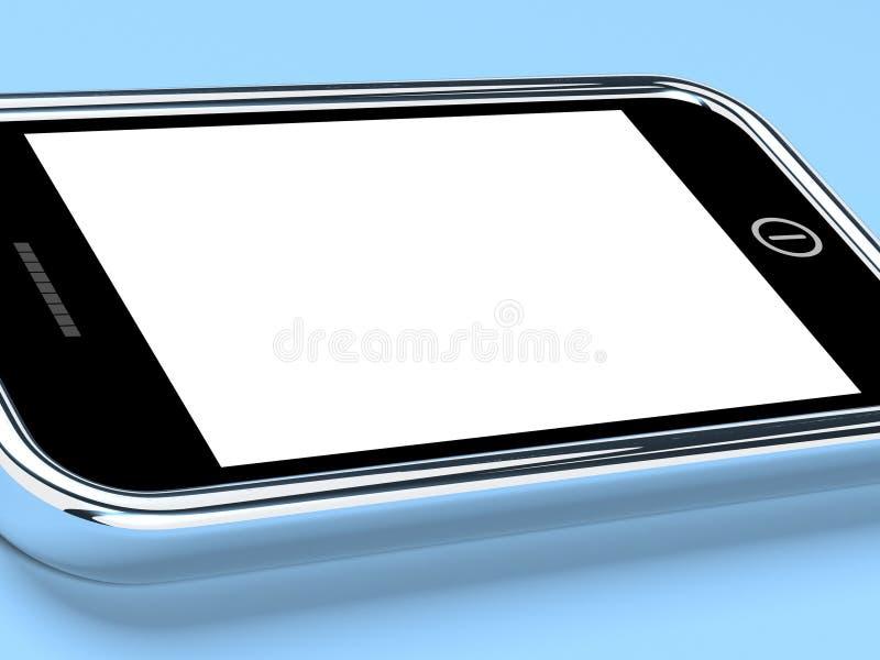 Het lege Scherm Smartphone met Witte Copyspace stock illustratie