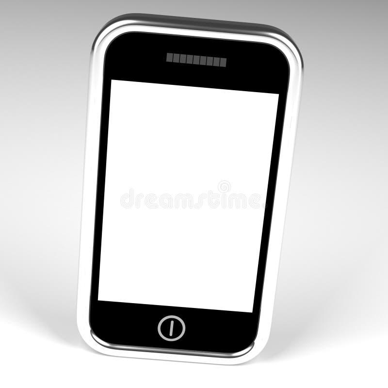 Het lege Scherm van Smartphone met Witte Copyspace en Witte Backgroun vector illustratie