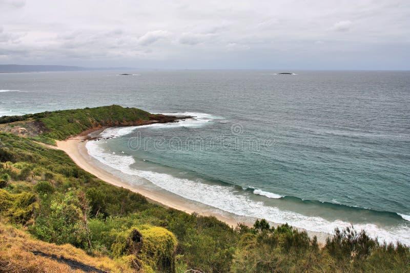Het lege strand van Australië royalty-vrije stock fotografie