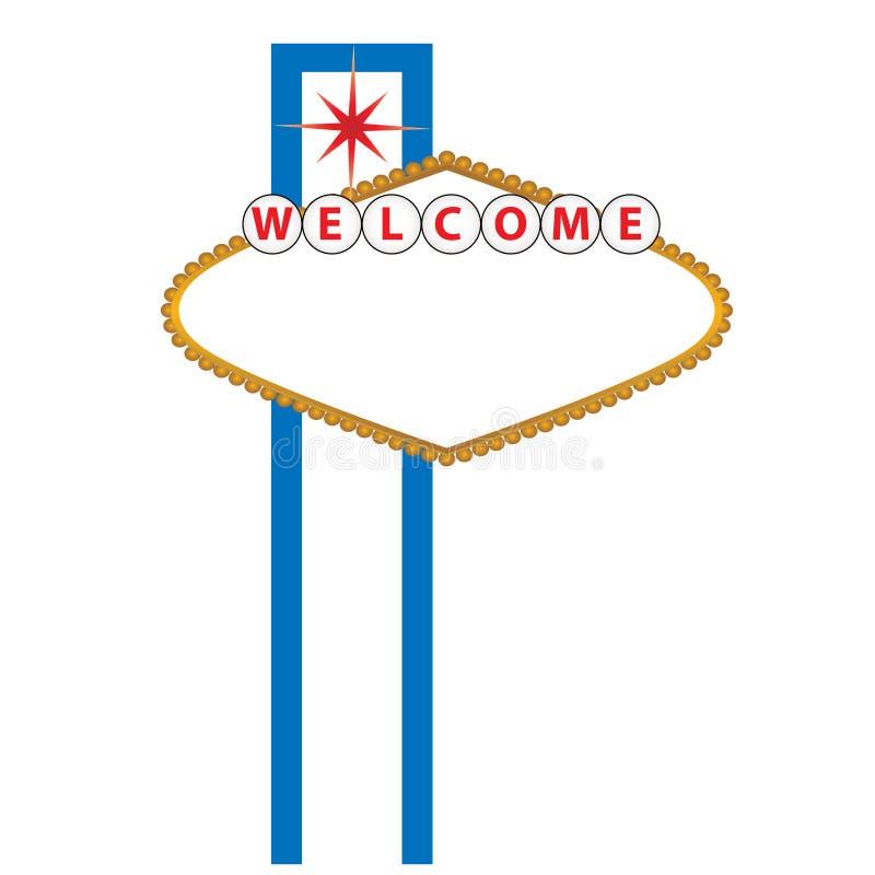 Het lege teken van Las Vegas vector illustratie