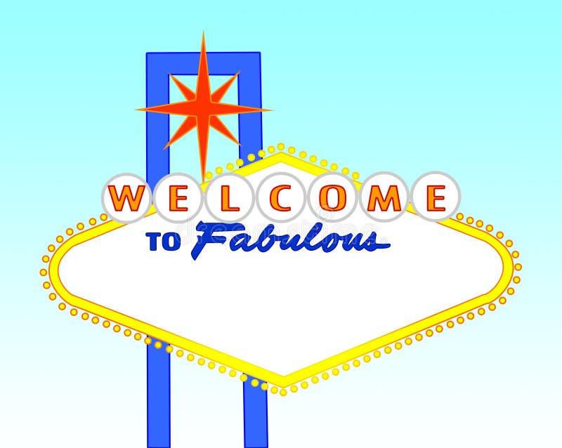 Het lege teken van Las Vegas van de dagtijd vector illustratie