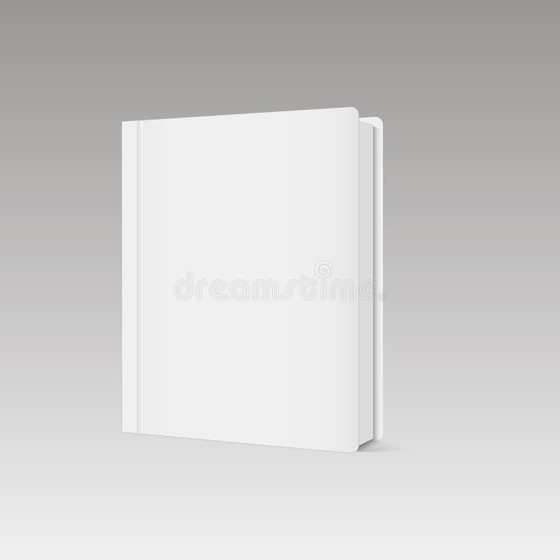 Het lege verticale malplaatje van de boekdekking met pagina's vooraan kant status Vector vector illustratie