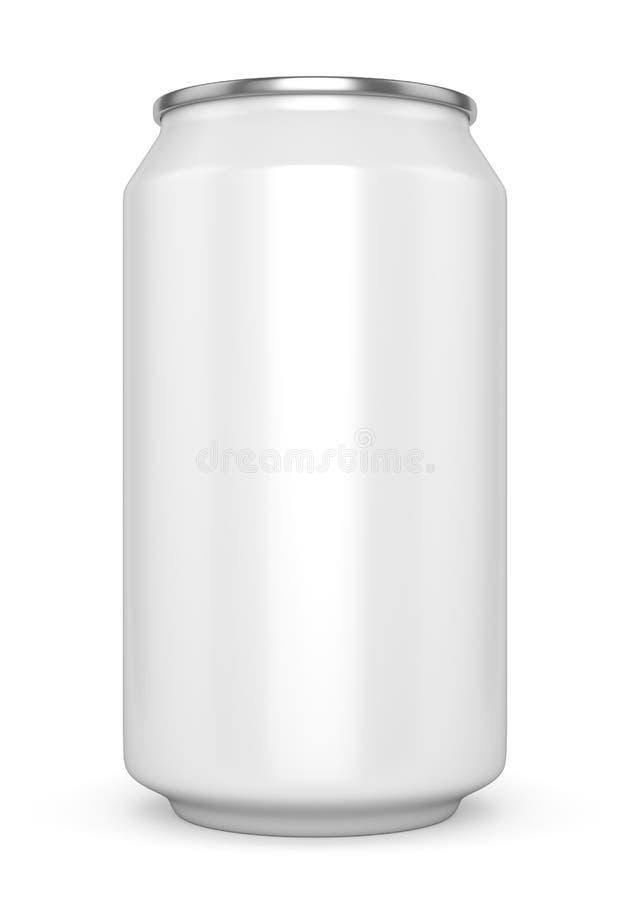 Het lege witte bier kan royalty-vrije illustratie