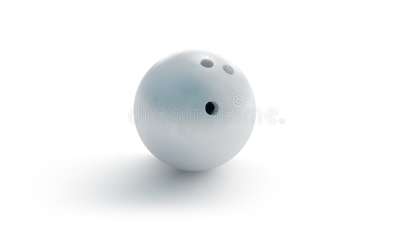 Het lege witte model van de kegelenbal, vooraanzicht, het 3d teruggeven stock illustratie