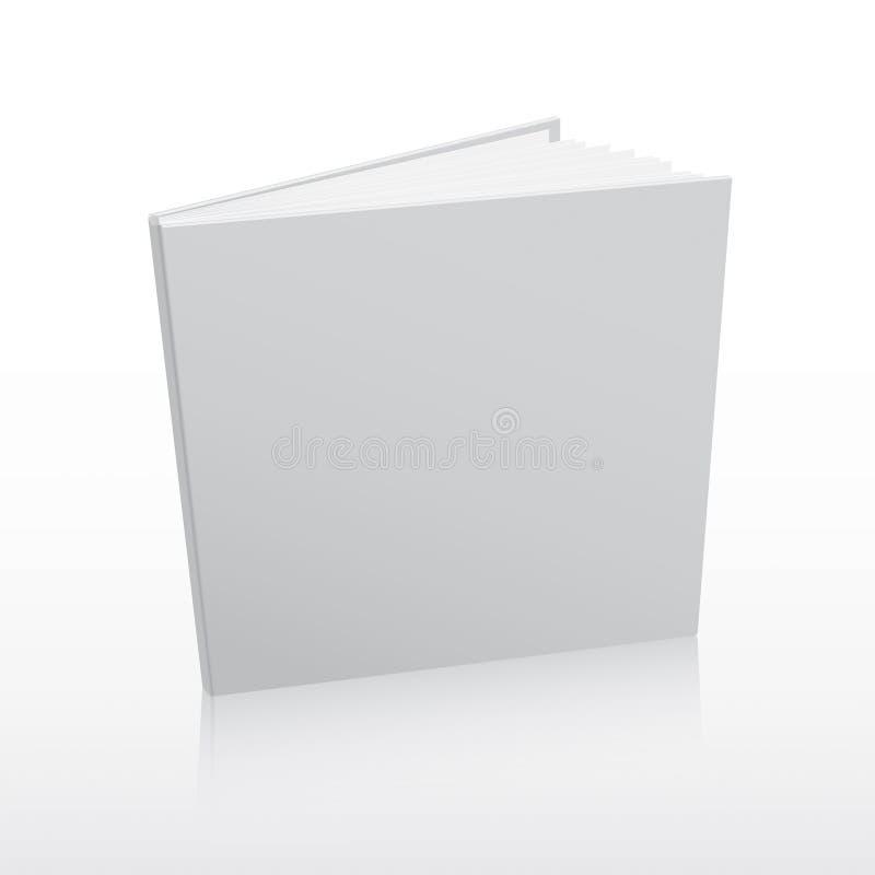 Het lege witte vectormalplaatje van de boekdekking stock illustratie