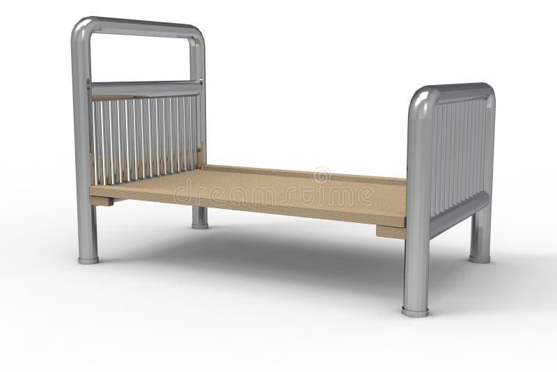 Het lege het ziekenhuisbed 3D teruggeven royalty-vrije illustratie