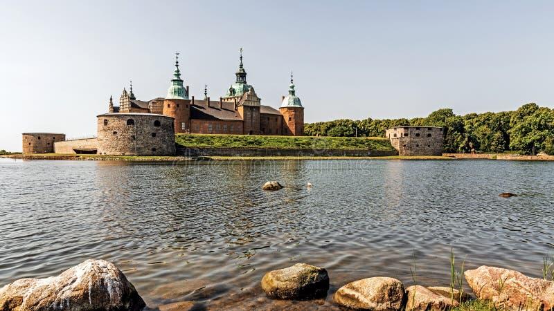 Het legendarische kasteel in Kalmar, Zweden stock foto's