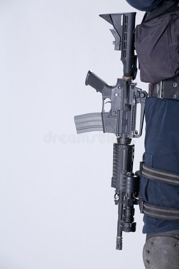 Het leger automatische machinegeweer stock foto