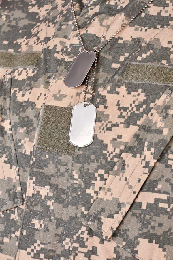 Het leger militaire halsband van de V.S. stock afbeelding