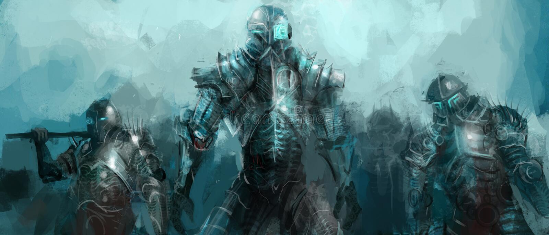 Het leger van de cybernetica royalty-vrije illustratie
