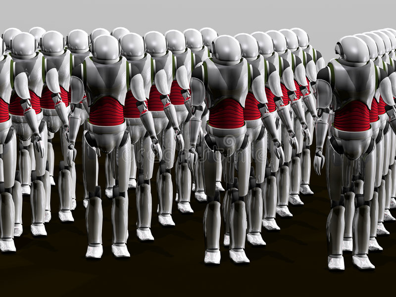 Het leger van de robot stock illustratie