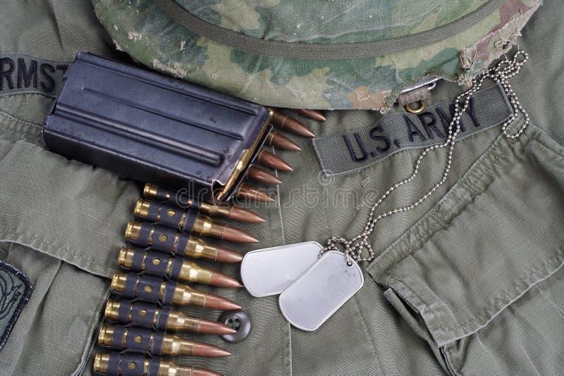 Het Leger van de V.S. in Vietnam stock afbeelding