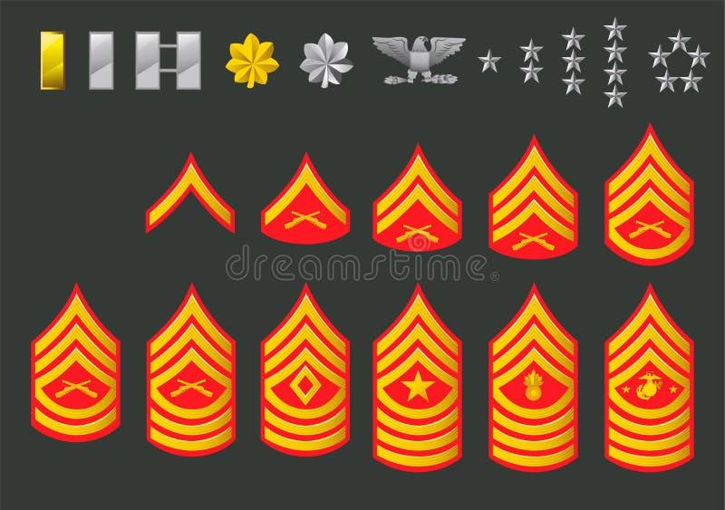 Het legerrangen van de V.S. vector illustratie