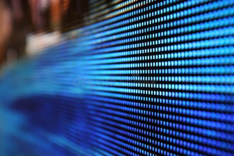 Het LEIDENE scherm van SMD - bluel 4mm dichte omhooggaand royalty-vrije stock afbeelding