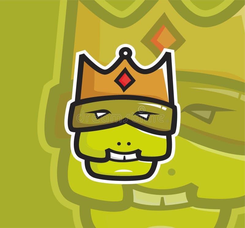 Het lelijke embleem van de koningsmascotte royalty-vrije illustratie