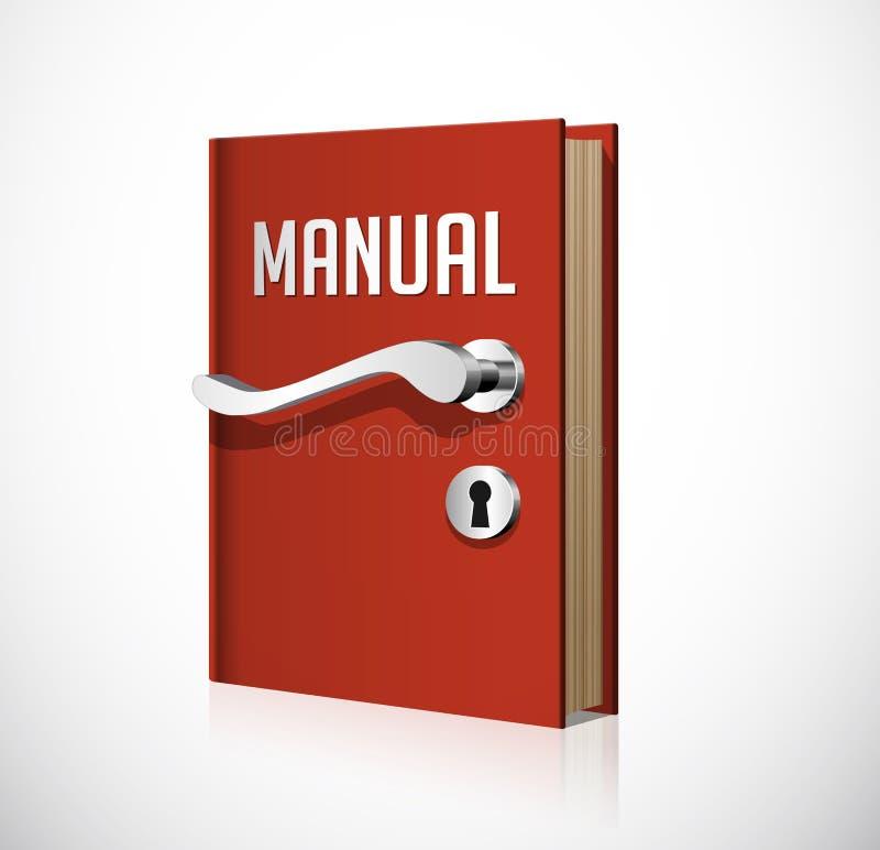 Het leren concept - boek als deur aan kennis stock illustratie