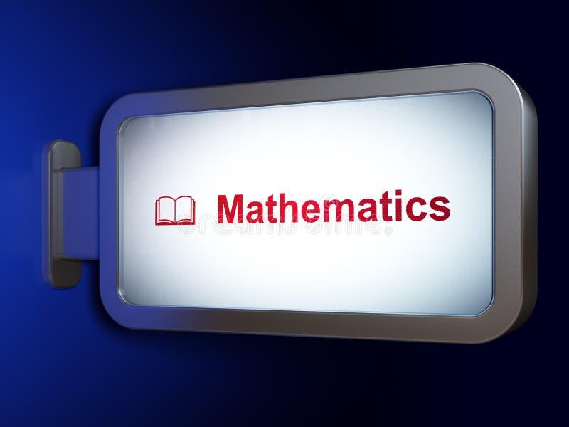 Het leren concept: Wiskunde en Boek op aanplakbordachtergrond royalty-vrije illustratie