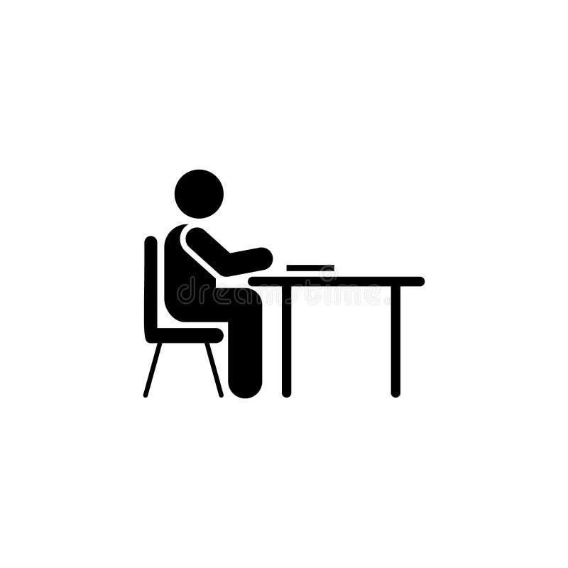 Het leren, examen, kindpictogram Element van het pictogram van het onderwijspictogram Grafisch het ontwerppictogram van de premie vector illustratie