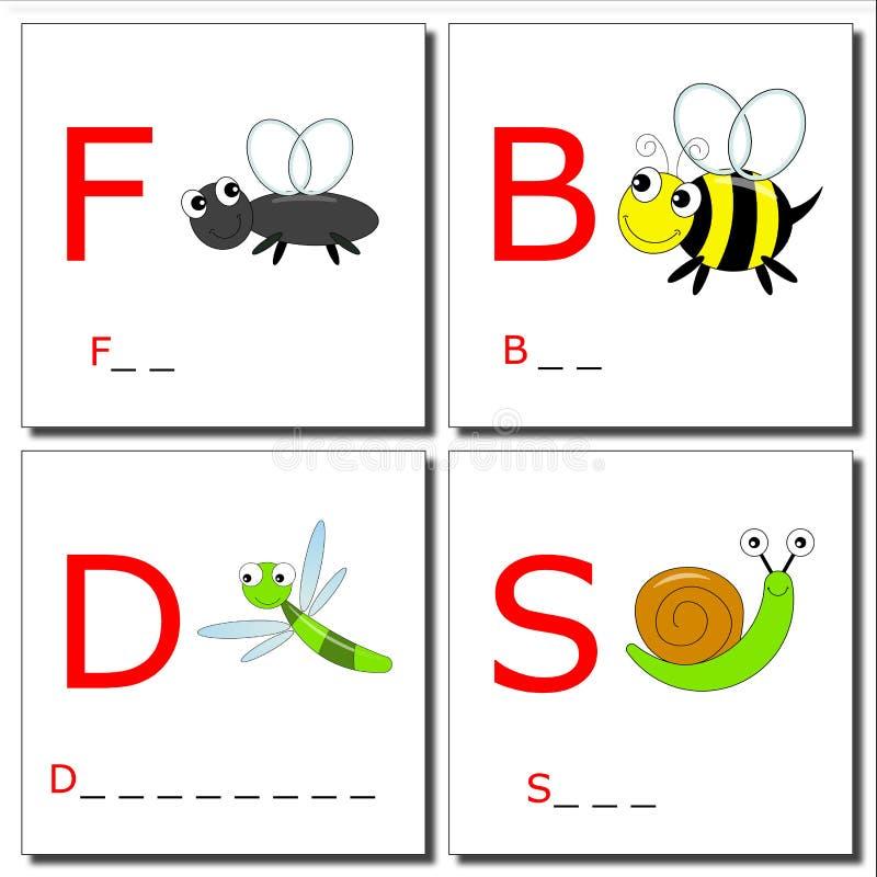 Het leren om insecten 2 te schrijven stock illustratie