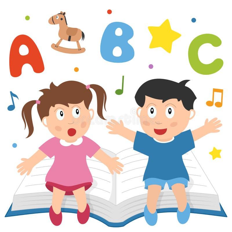 Download Het leren is Pret vector illustratie. Illustratie bestaande uit kinderen - 25901670
