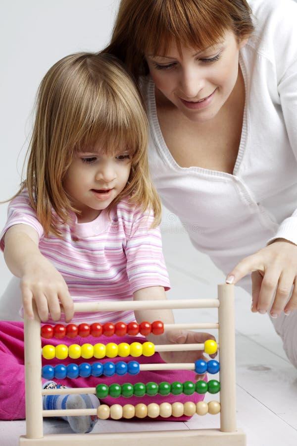 Het leren van het kind stock afbeeldingen