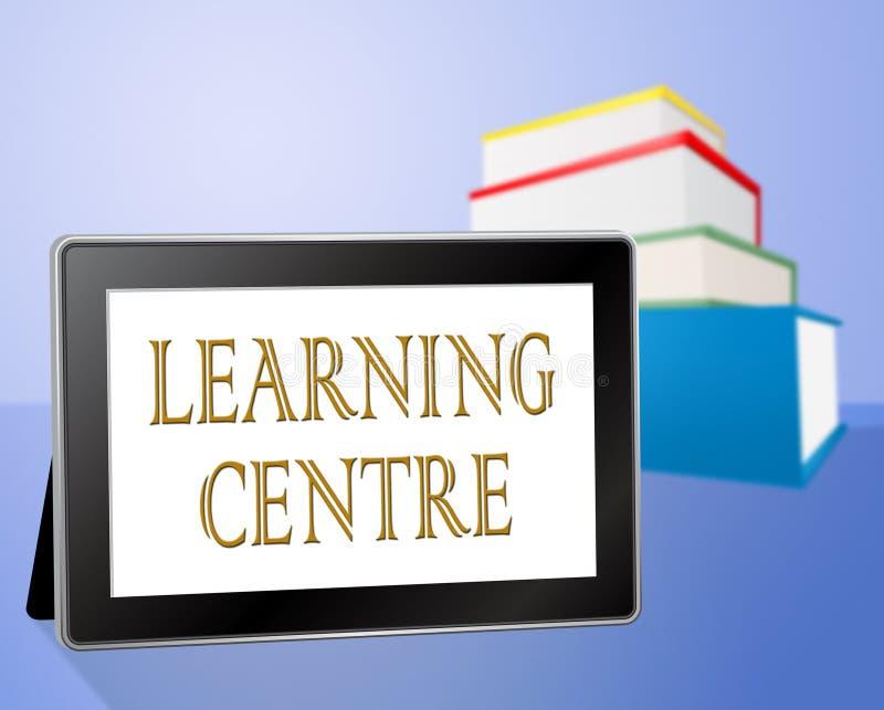 Het lerende Centrum wijst op Kennis en Computer opleid stock illustratie