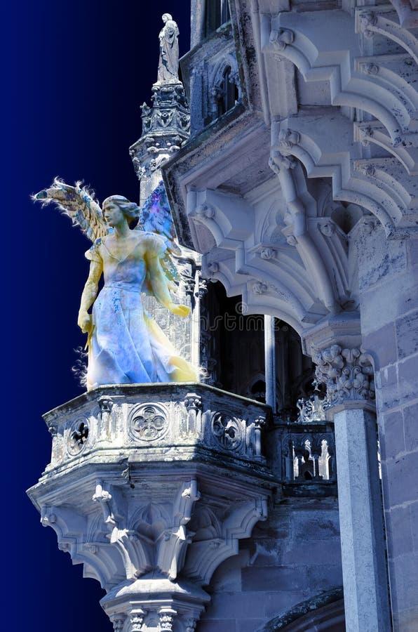 Het letten op van de engel royalty-vrije illustratie