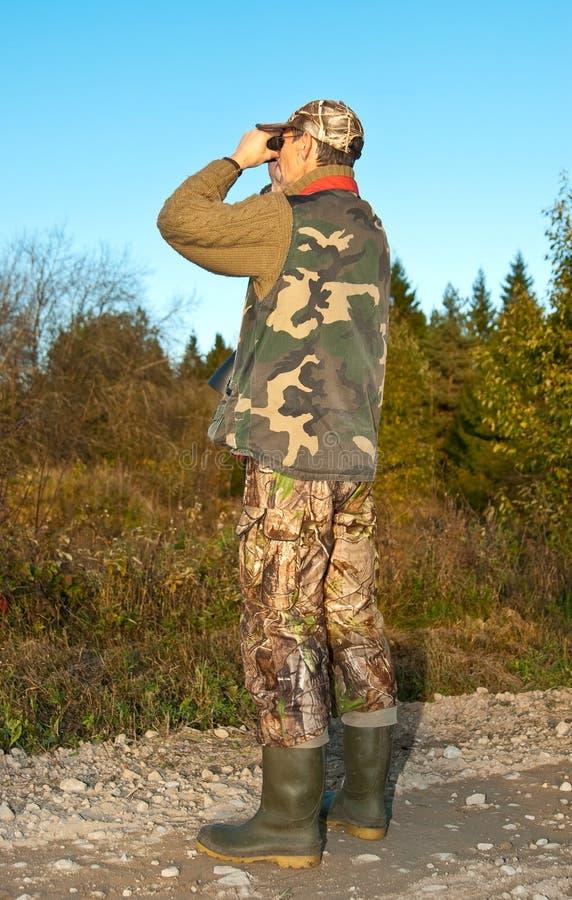 Het letten op van de jager royalty-vrije stock foto