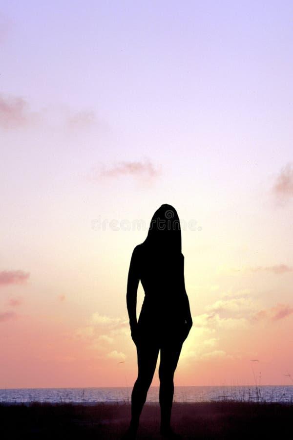 Download Het Letten Van De Op Zonsondergang Stock Foto - Afbeelding bestaande uit hemel, golf: 40574