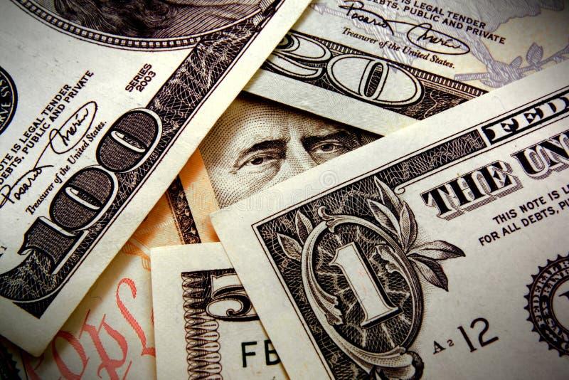 Het letten van op uw geld royalty-vrije stock afbeeldingen