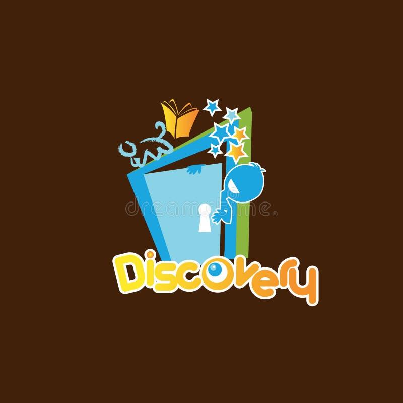 Het lettersymbool van de ontdekking in beeldtekenstijl voor elementenontwerp royalty-vrije illustratie