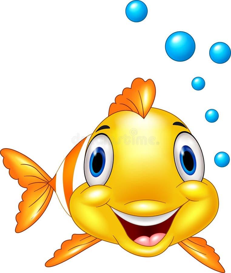 Het leuke beeldverhaal van clownvissen onderwater en bel royalty-vrije illustratie