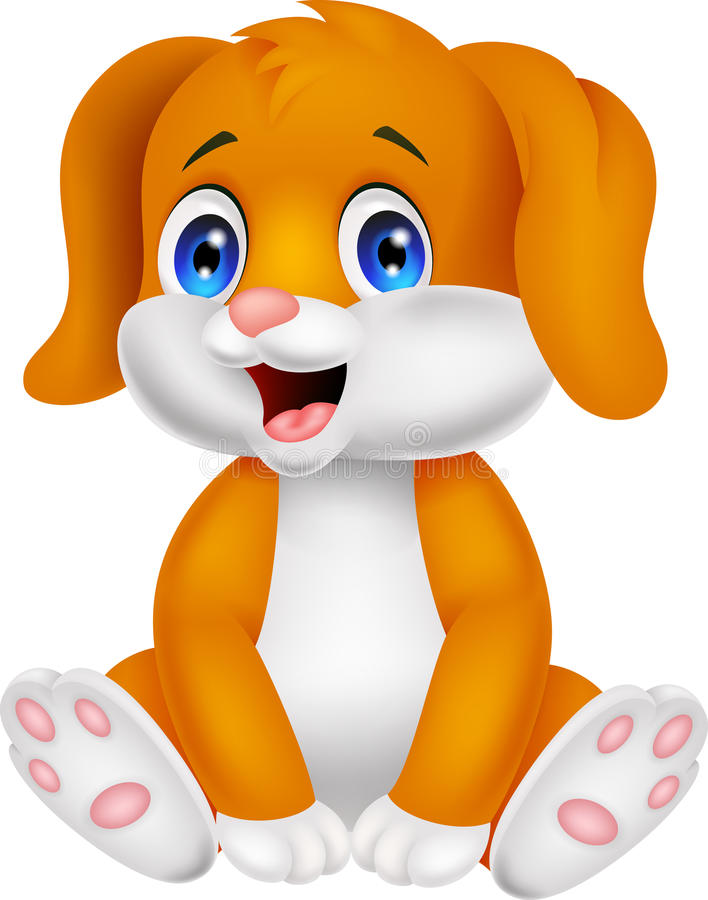Het leuke beeldverhaal van de babyhond royalty-vrije illustratie