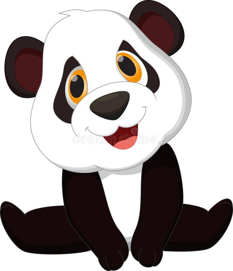 Het leuke beeldverhaal van de babypanda stock illustratie