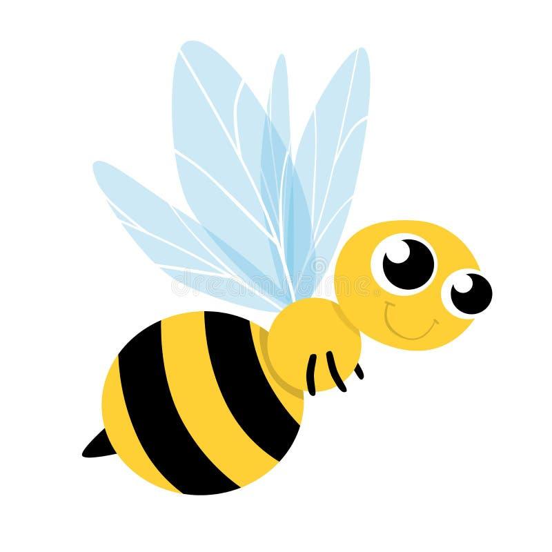 Download Het Leuke Beeldverhaal Van De Bij Vector Illustratie - Illustratie bestaande uit vlieg, dier: 29500956