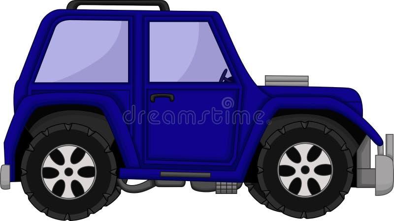 Het leuke beeldverhaal van de jeepauto vector illustratie