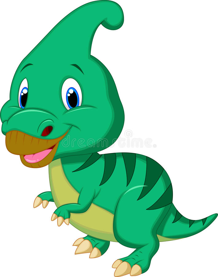 Het leuke beeldverhaal van dinosaurusparasaurolophus royalty-vrije illustratie
